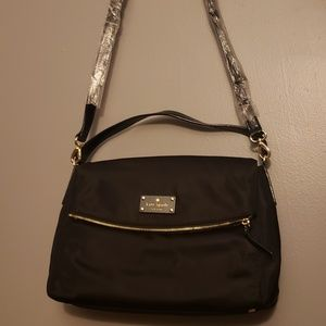 Kate spade black nylon satchel new without tags